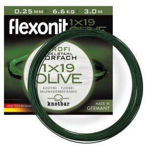 flexonit Stahlvorfach 1x19 Olive bei der Cebbra GmbH