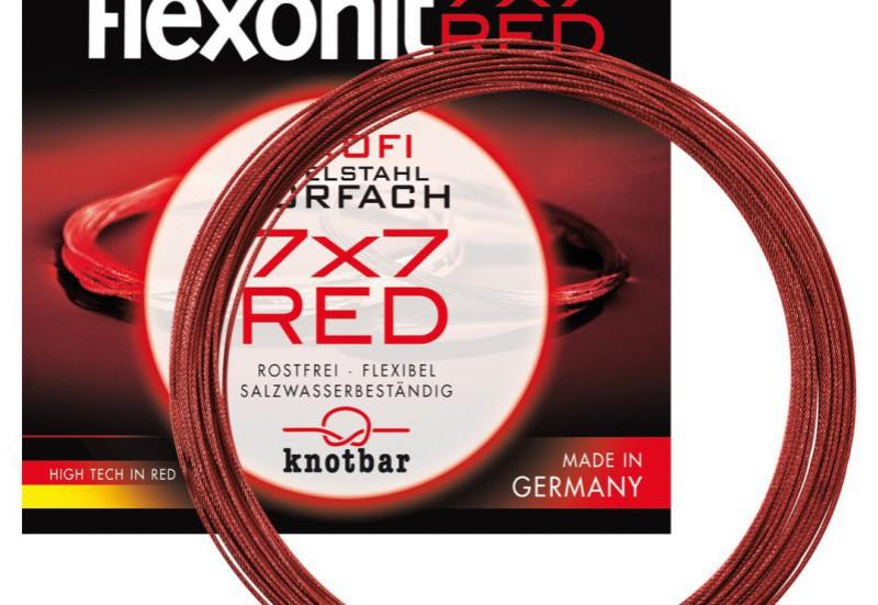 Flexonit Stahlvorfach 7x7 Red