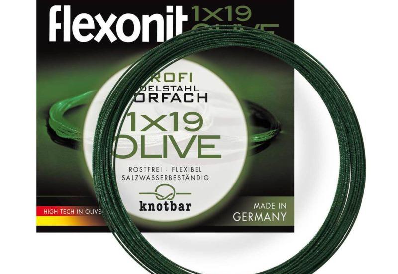 Flexonit Stahlvorfach 1x19 Olive